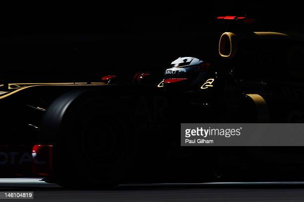 Kimi Raikkonen of Finland and Lotus drives during qualifying for the Canadian Formula One Grand Prix at the Circuit Gilles Villeneuve on June 9, 2012...