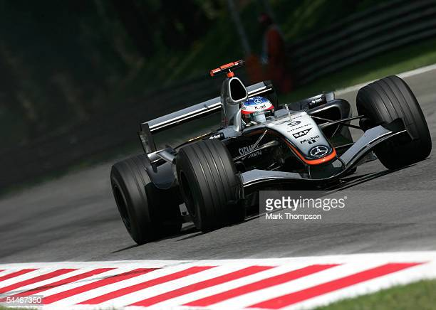 Kimi Raikkonen of Finland and McLaren Mercedes in action during the Italian Grand Prix at the Autodromo Nationale di Monza circuit on September 4...