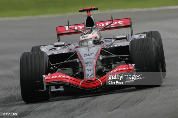 Kimi Raikkonen of Finland and McLarenMercedes drives in the second practice for the Brazilian Formula One Grand Prix at the Autodromo Interlagos on...