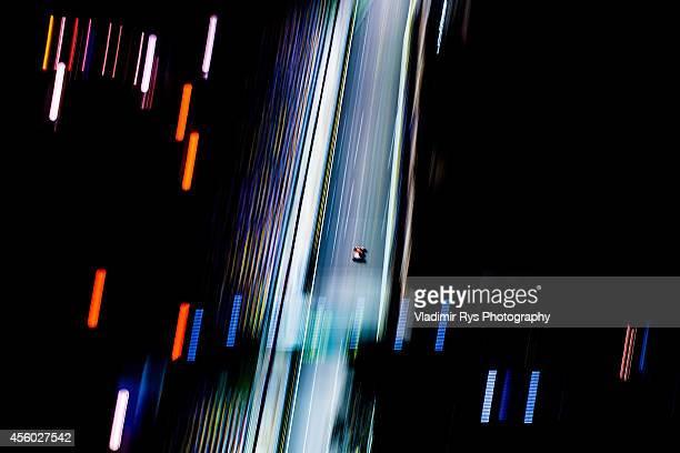 Kimi Raikkonen of Finland and Scuderia Ferrari drives during practice for the Singapore Formula One Grand Prix at Marina Bay Street Circuit on...