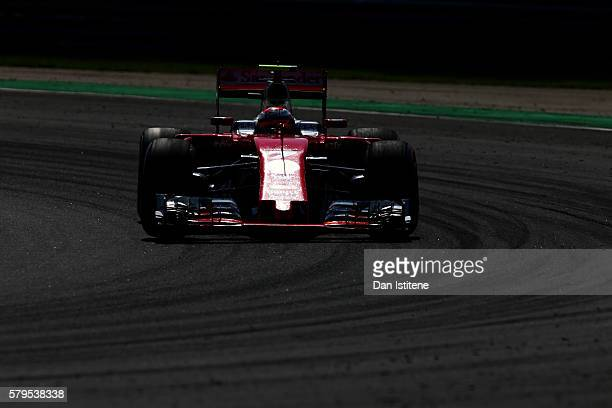 Kimi Raikkonen of Finland drives the Scuderia Ferrari SF16H Ferrari 059/5 turbo during the Formula One Grand Prix of Hungary at Hungaroring on July...