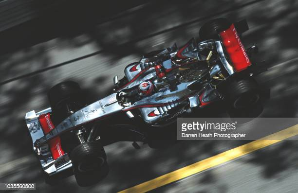 Kimi Raikkonen of Finland drives the Team McLaren Mercedes McLaren MP4-21 Mercedes V8 during practice for the Formula One Monaco Grand Prix on 28 May...