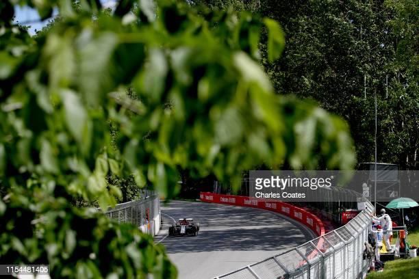 Kimi Raikkonen of Finland driving the Alfa Romeo Racing C38 Ferrari on track during practice for the F1 Grand Prix of Canada at Circuit Gilles...