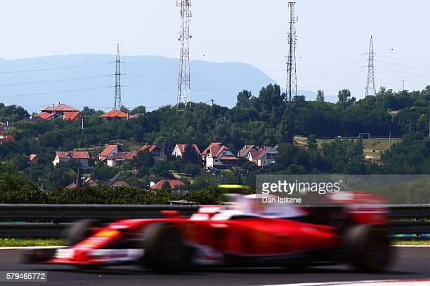 Kimi Raikkonen of Finland driving the Scuderia Ferrari SF16H Ferrari 059/5 turbo on track during the Formula One Grand Prix of Hungary at Hungaroring...