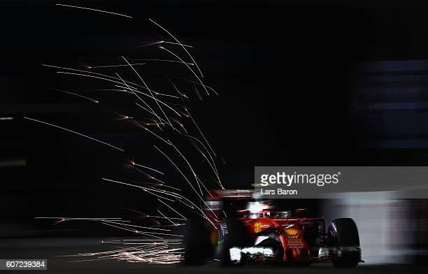 Kimi Raikkonen of Finland driving the Scuderia Ferrari SF16-H Ferrari 059/5 turbo on track during qualifying for the Formula One Grand Prix of...