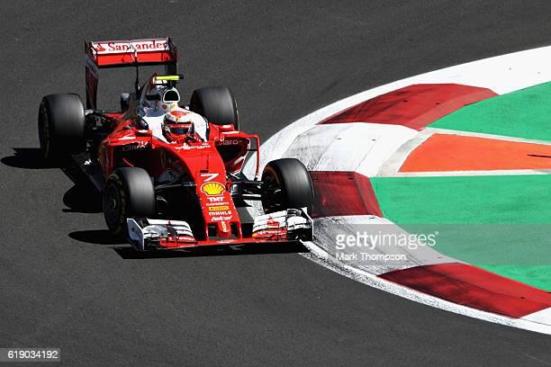 Kimi Raikkonen of Finland driving the Scuderia Ferrari SF16H Ferrari 059/5 turbo on track during qualifying for the Formula One Grand Prix of Mexico...