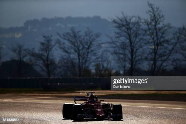 Kimi Raikkonen of Finland driving the Scuderia Ferrari SF70H on track during the final day of Formula One winter testing at Circuit de Catalunya on...