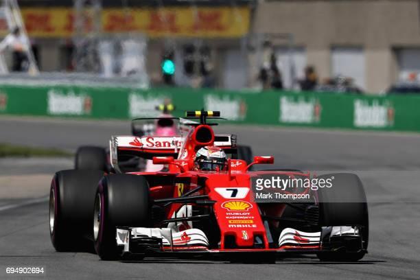 Kimi Raikkonen of Finland driving the Scuderia Ferrari SF70H on track during the Canadian Formula One Grand Prix at Circuit Gilles Villeneuve on June...