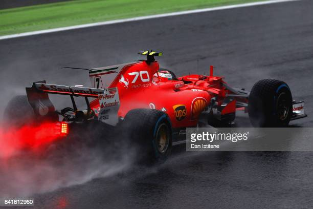 Kimi Raikkonen of Finland driving the Scuderia Ferrari SF70H on track during qualifying for the Formula One Grand Prix of Italy at Autodromo di Monza...
