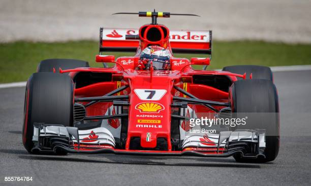 Kimi Raikkonen of Finland driving the Scuderia Ferrari SF70H on track during final practice for the Malaysia Formula One Grand Prix at Sepang Circuit...