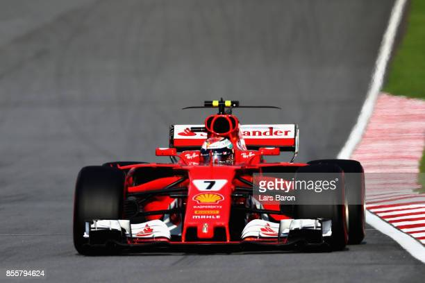 Kimi Raikkonen of Finland driving the Scuderia Ferrari SF70H on track during qualifying for the Malaysia Formula One Grand Prix at Sepang Circuit on...