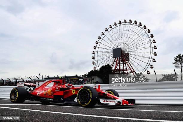 Kimi Raikkonen of Finland driving the Scuderia Ferrari SF70H on track during practice for the Formula One Grand Prix of Japan at Suzuka Circuit on...
