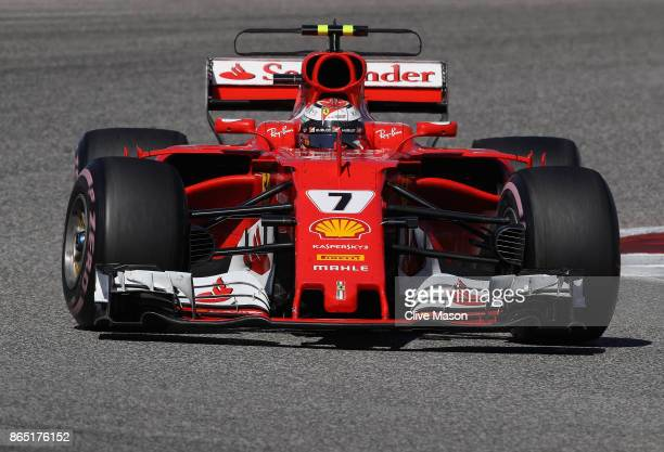 Kimi Raikkonen of Finland driving the Scuderia Ferrari SF70H on track during the United States Formula One Grand Prix at Circuit of The Americas on...