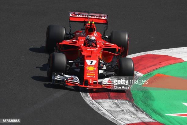 Kimi Raikkonen of Finland driving the Scuderia Ferrari SF70H on track during qualifying for the Formula One Grand Prix of Mexico at Autodromo...