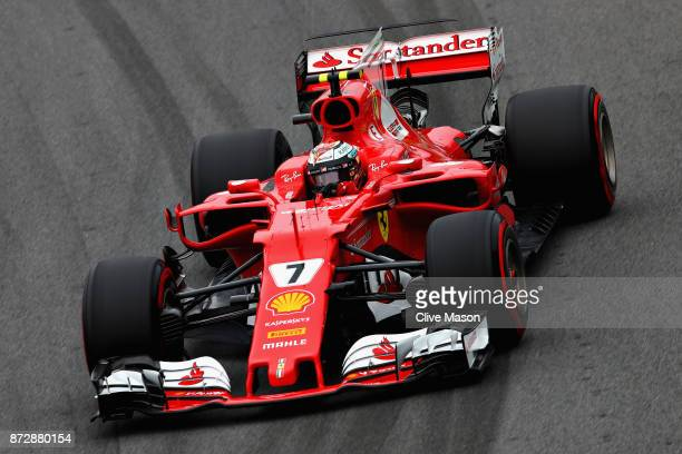 Kimi Raikkonen of Finland driving the Scuderia Ferrari SF70H on track during qualifying for the Formula One Grand Prix of Brazil at Autodromo Jose...