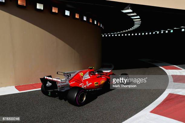 Kimi Raikkonen of Finland driving the Scuderia Ferrari SF70H on track during practice for the Abu Dhabi Formula One Grand Prix at Yas Marina Circuit...