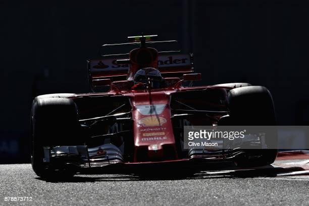 Kimi Raikkonen of Finland driving the Scuderia Ferrari SF70H on track during final practice for the Abu Dhabi Formula One Grand Prix at Yas Marina...