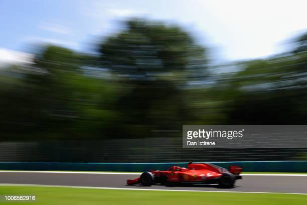 Kimi Raikkonen of Finland driving the Scuderia Ferrari SF71H on track during final practice for the Formula One Grand Prix of Hungary at Hungaroring...
