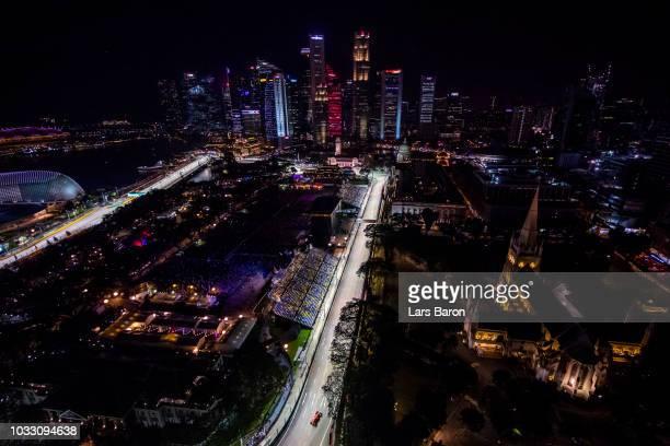 Kimi Raikkonen of Finland driving the Scuderia Ferrari SF71H on track during practice for the Formula One Grand Prix of Singapore at Marina Bay...