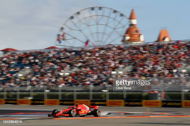 Kimi Raikkonen of Finland driving the Scuderia Ferrari SF71H on track during qualifying for the Formula One Grand Prix of Russia at Sochi Autodrom on...