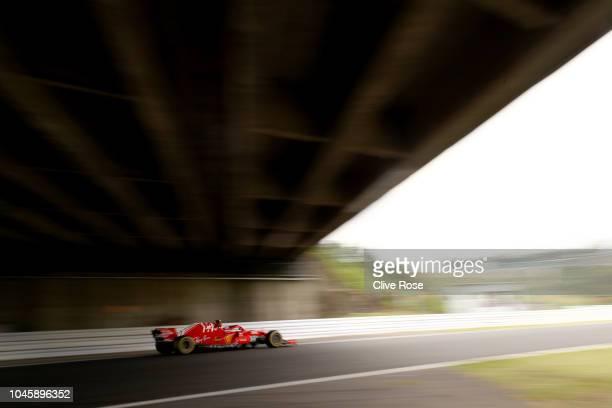 Kimi Raikkonen of Finland driving the Scuderia Ferrari SF71H on track during practice for the Formula One Grand Prix of Japan at Suzuka Circuit on...
