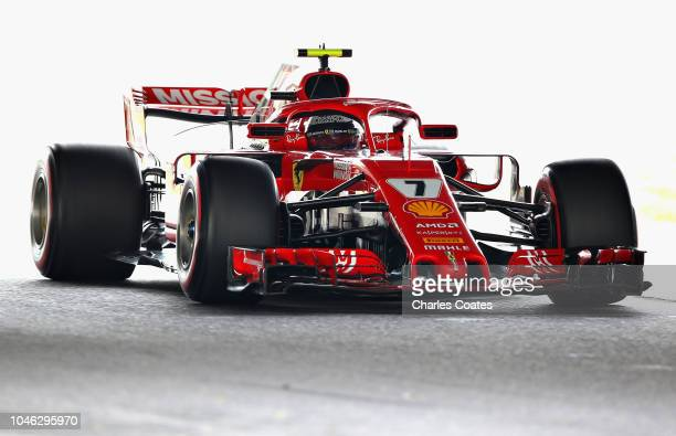 Kimi Raikkonen of Finland driving the Scuderia Ferrari SF71H on track during final practice for the Formula One Grand Prix of Japan at Suzuka Circuit...