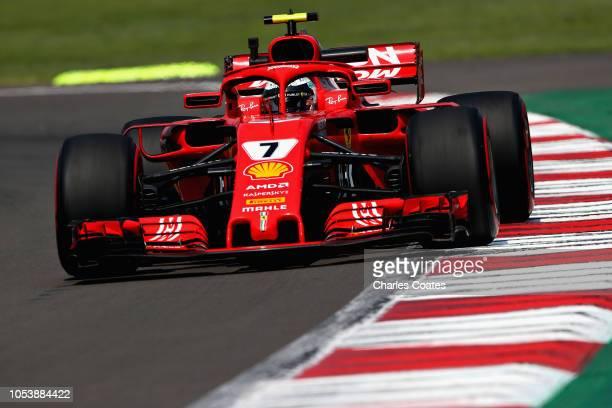 Kimi Raikkonen of Finland driving the Scuderia Ferrari SF71H on track during practice for the Formula One Grand Prix of Mexico at Autodromo Hermanos...