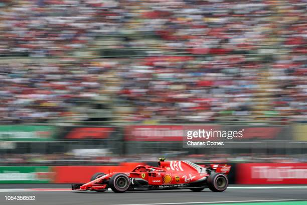 Kimi Raikkonen of Finland driving the Scuderia Ferrari SF71H on track during qualifying for the Formula One Grand Prix of Mexico at Autodromo...