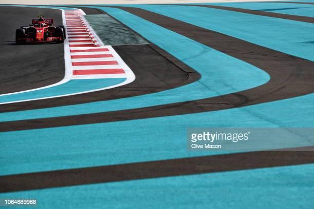 Kimi Raikkonen of Finland driving the Scuderia Ferrari SF71H on track during final practice for the Abu Dhabi Formula One Grand Prix at Yas Marina...