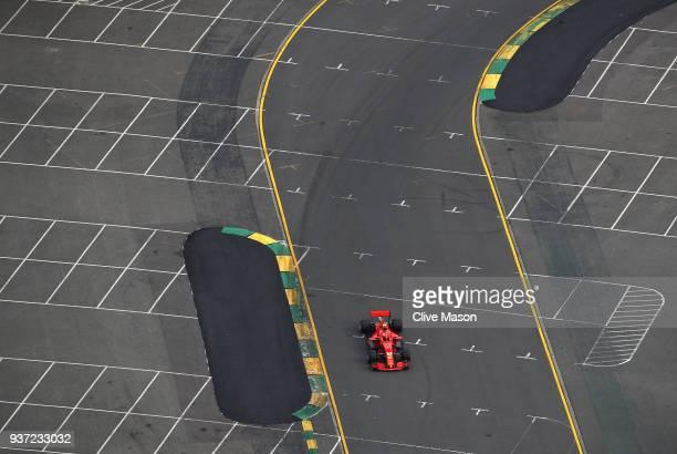 Kimi Raikkonen of Finland driving the Scuderia Ferrari SF71H on track during qualifying for the Australian Formula One Grand Prix at Albert Park on...