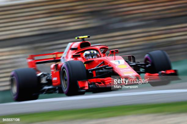 Kimi Raikkonen of Finland driving the Scuderia Ferrari SF71H on track during practice for the Formula One Grand Prix of China at Shanghai...