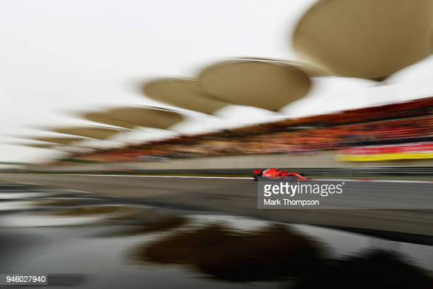 Kimi Raikkonen of Finland driving the Scuderia Ferrari SF71H on track during final practice for the Formula One Grand Prix of China at Shanghai...