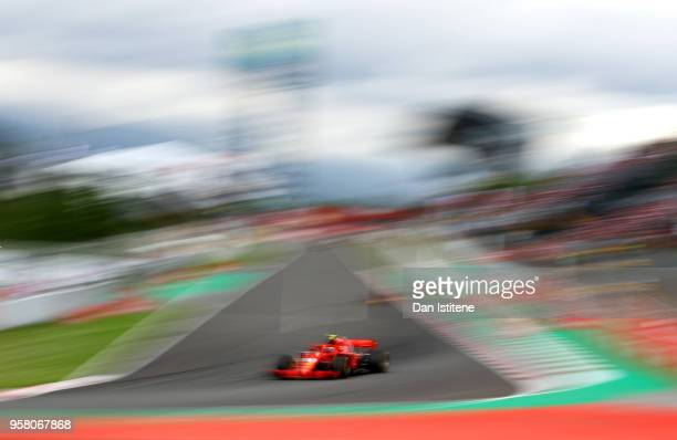 Kimi Raikkonen of Finland driving the Scuderia Ferrari SF71H on track during the Spanish Formula One Grand Prix at Circuit de Catalunya on May 13...
