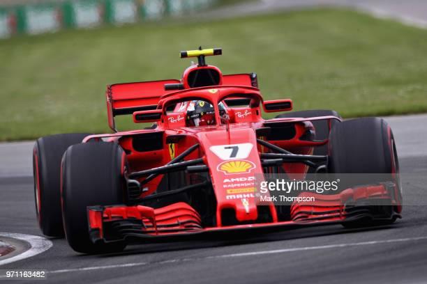 Kimi Raikkonen of Finland driving the Scuderia Ferrari SF71H on track during the Canadian Formula One Grand Prix at Circuit Gilles Villeneuve on June...
