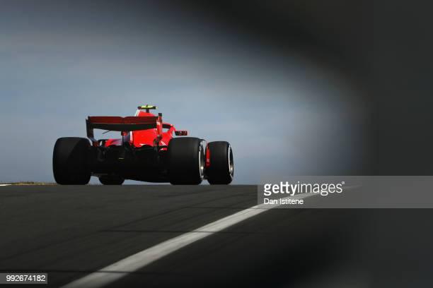 Kimi Raikkonen of Finland driving the Scuderia Ferrari SF71H on track during practice for the Formula One Grand Prix of Great Britain at Silverstone...