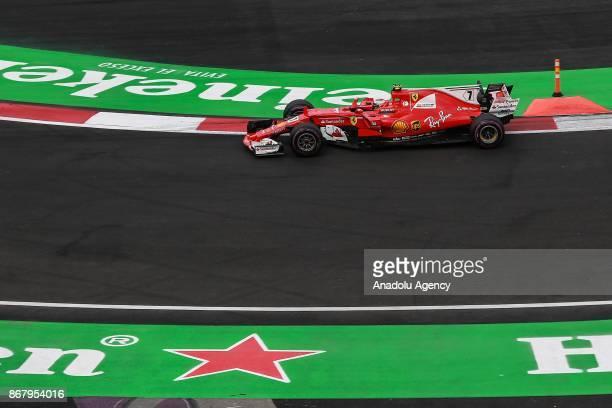 Kimi Raikkonen of Scuderia Ferrari drives during the Formula One Grand Prix of Mexico at Autodromo Hermanos Rodriguez in Mexico City Mexico on...