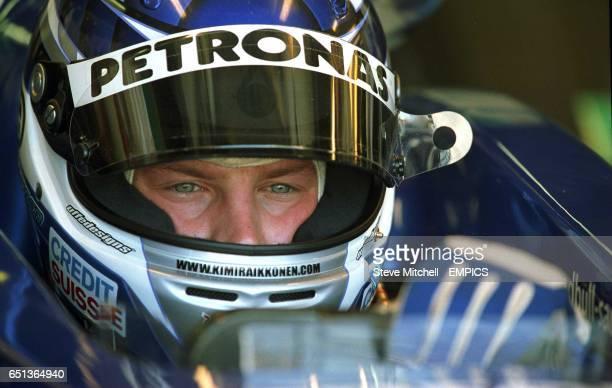 Kimi Raikkonen prepares to leave the garage during Qualifying in Montreal