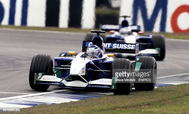 Kimi Raikkonen takes a corner during the British Grand Prix