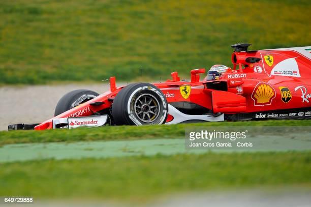 Kimi Räikkönen of Scuderia Ferrari driving his car during the Formula One preseason tests on May 8 2017 in Barcelona Spain