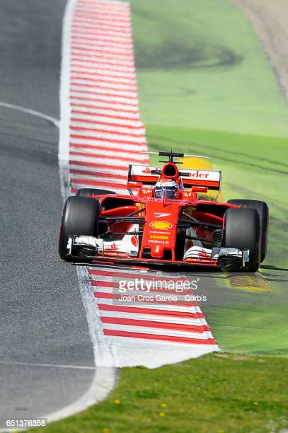 Kimi Räikkönen of Scuderia Ferrari driving his car during the Formula One Winter tests on May 9 2017 in Barcelona Spain