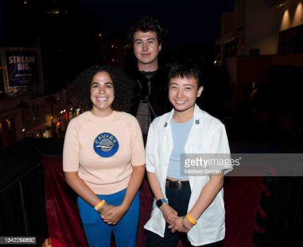 Kimia Behpoornia, Riley Westling, and Alyssa Lerner arrive at 17th Annual Oscar-Qualifying HollyShorts Film Festival Opening Night at Japan House Los...