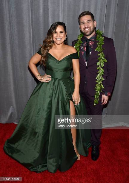 Kimie Miner and Imua Garza attend the 62nd Annual GRAMMY Awards at STAPLES Center on January 26 2020 in Los Angeles California