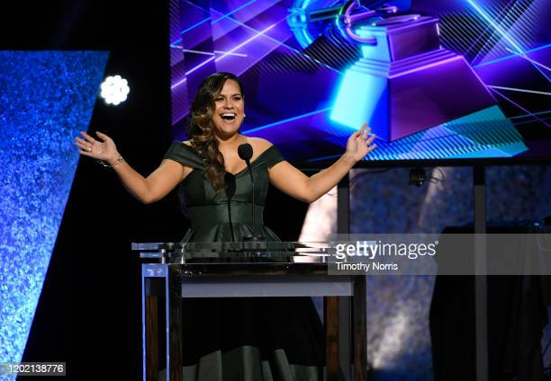 Kimie Miner onstage during the 62nd Annual GRAMMY Awards Premiere Ceremony at Microsoft Theater on January 26 2020 in Los Angeles California