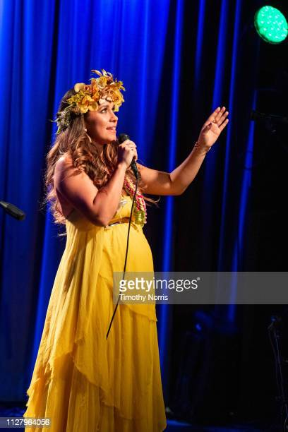 Kimie Miner performs during Music of Waikiki at The GRAMMY Museum on February 06 2019 in Los Angeles California