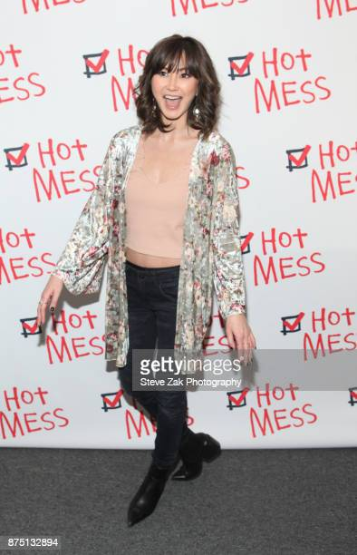 Kimiko Glenn attends 'Hot Mess' Opening Night at Jerry Orbach Theater on November 16 2017 in New York City