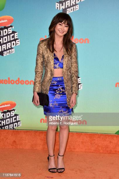 Kimiko Glenn attends Nickelodeon's 2019 Kids' Choice Awards at Galen Center on March 23 2019 in Los Angeles California