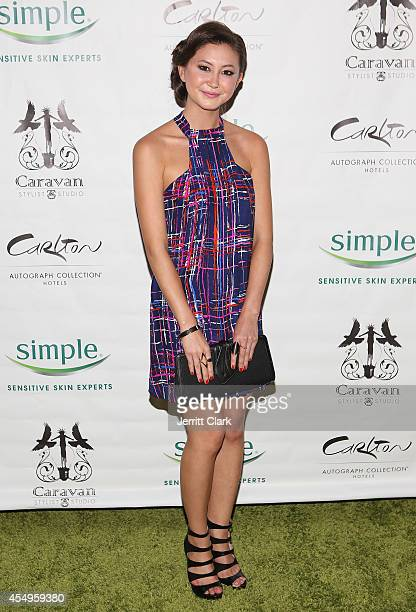 Kimiko Glenn attends the Simple Skincare Caravan Stylist Studio Fashion Week Event on September 7 2014 in New York City