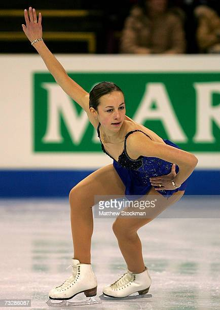 Kimmie Meissner competes in the free skate during the ISU Four Continents Figure Skating Championships February 10 2007 in Colorado Springs Colorado...