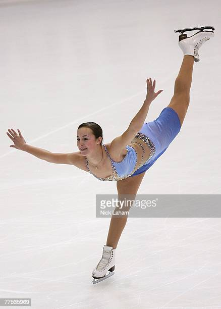 Kimmie Meissner competes in the ladies short program of 2007 Skate America at the Sovereign Center October 27, 2007 in Reading, Pennsylvania.