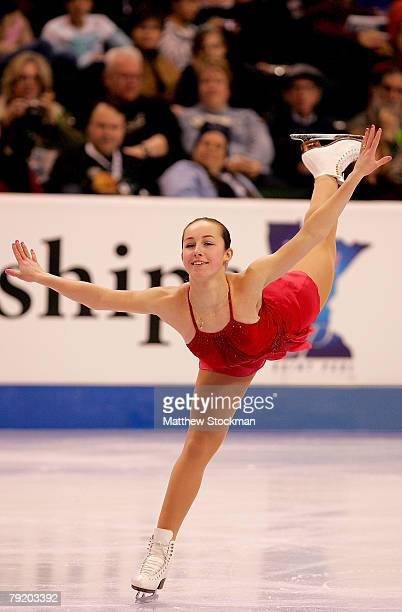 Kimmie Meissner competes in the short program during the US Figure Skating Championships January 24 2008 at the Xcel Energy Center in St Paul...